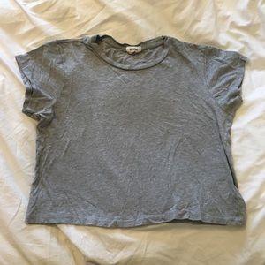 Redone x Hanes heather boxy tee size M 100% cotton